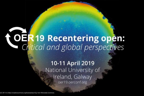logo for OER 19 Recentering 10-11 April 2019