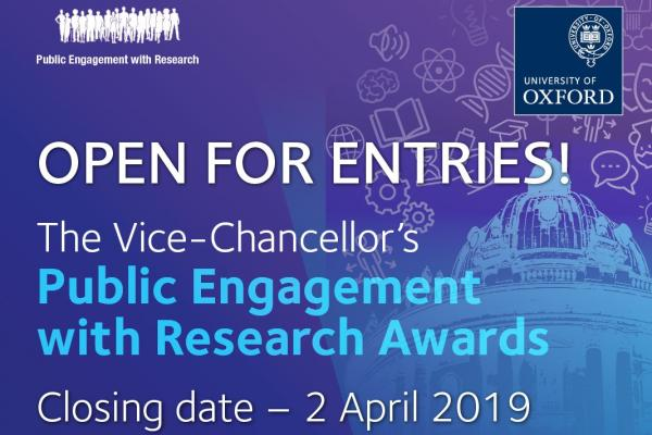 Announcing The Vice-Chancellor's Public Engagement with Research (PER) Awards 2019