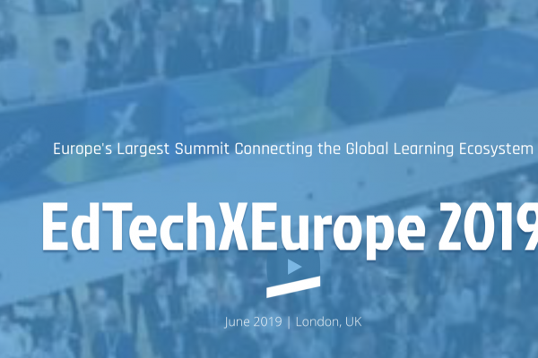 screen shot of the logo of EdTechXEurope 2019