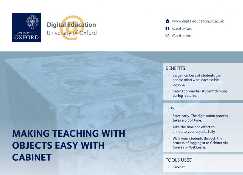 Screenshot of the case study 'Making teaching with objects easy with Cabinet'
