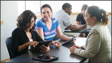 Students use education technology