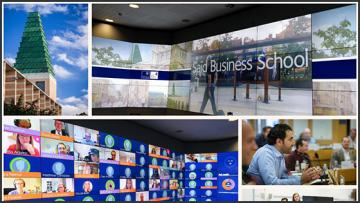 A collage of images from the said business school