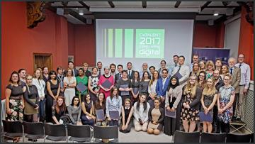 Group photo of over 23 OxTALENT prize winners