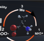 Screenshot of the chemistry VR app visualising module structures