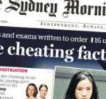 The Sydney Morning Herald ragout showing students in Australian universities caught cheating